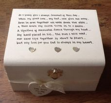Shabby Personalised chic Father Of The Bride Wedding Thank You Gift Box gift.